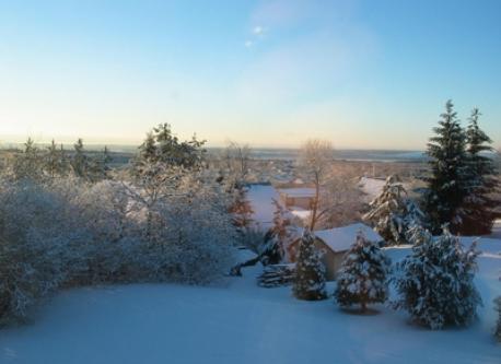 Vue vers le Sud en hiver.