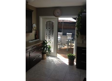 Kitchen to back deck and yard