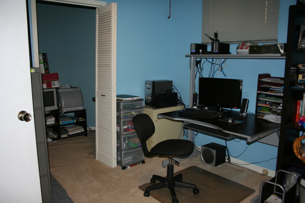 Computer room/spare bedroom in basement