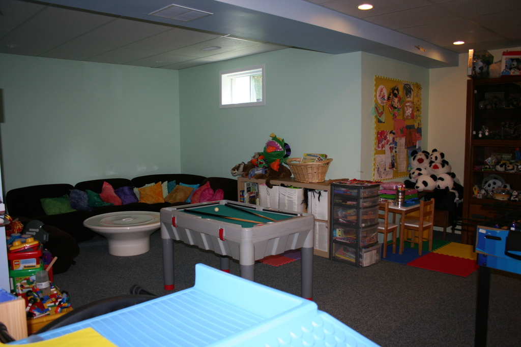 Kid's playroom in basement