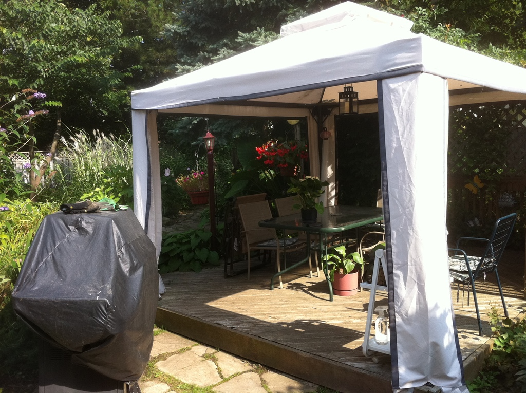 Gazebo in back garden