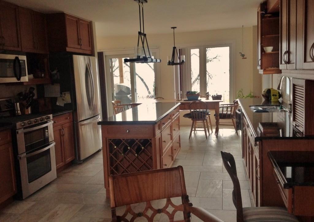 kitchen facing the lake