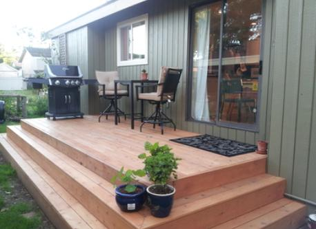 The new back deck for beautiful summer evenings