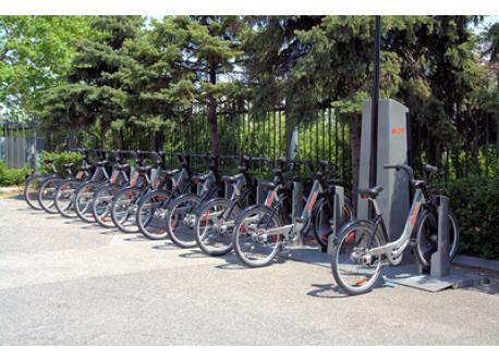 Bixi stands nearby