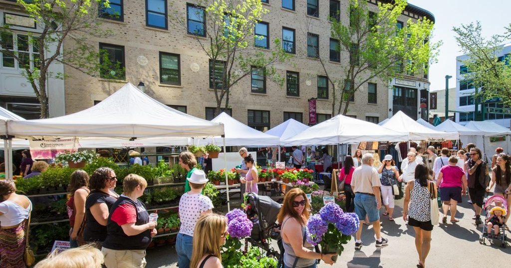Lots of open-air markets in summer time