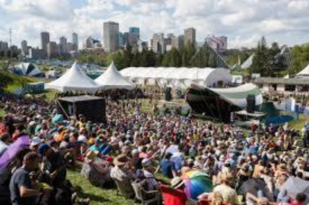 Edmonton Folk Music Festival - a short walk from our house