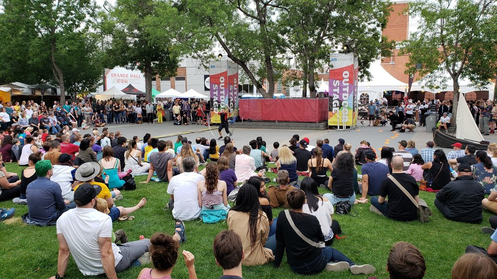 Edmonton Fringe -  second half of August. Largest fringe festival in North America. In Old Strathcona, where we live.