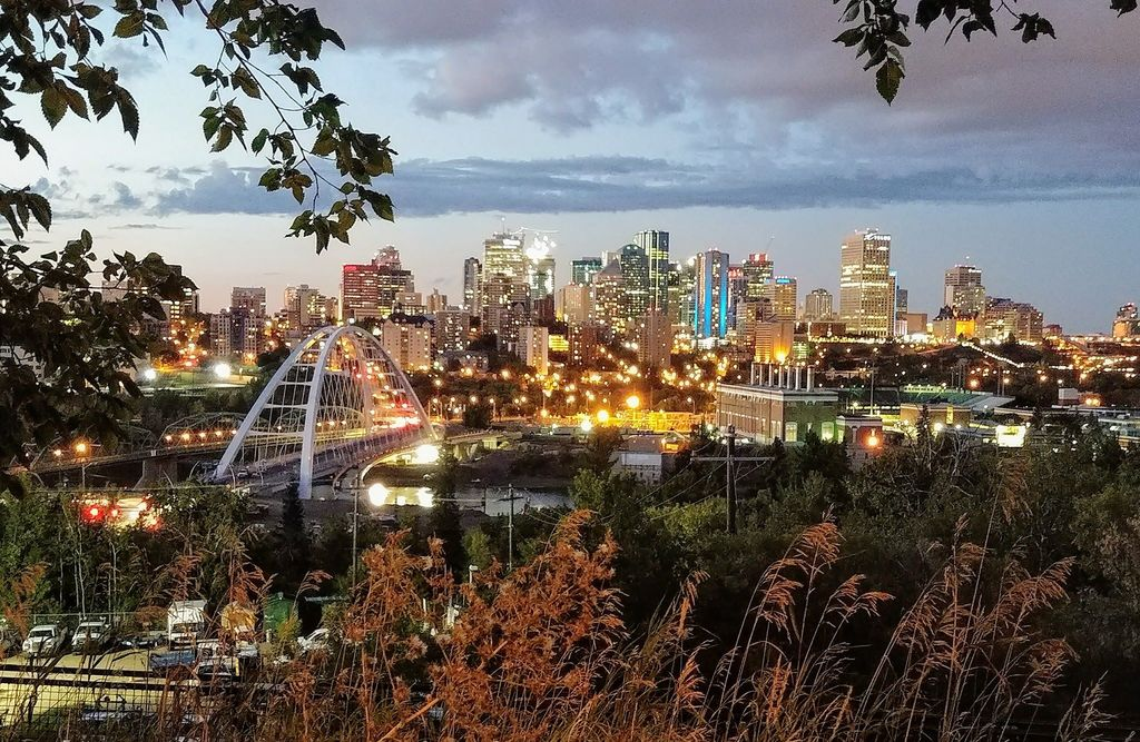 Downtown Edmonton at Night - new bridge (credit: Terry Donovan)