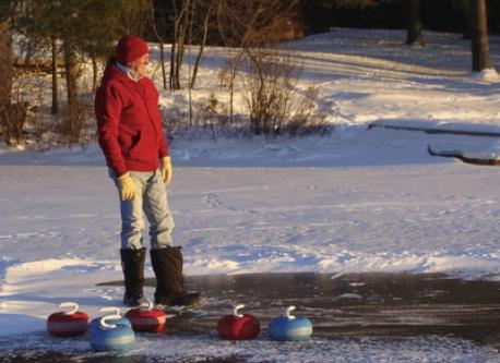 Curling on the lake