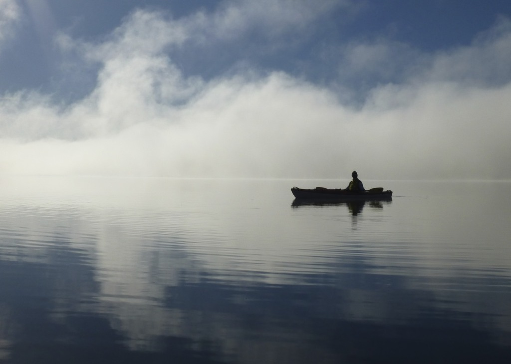 Kayaking in the early morning mist, Lake of Bays, 2 kayaks available