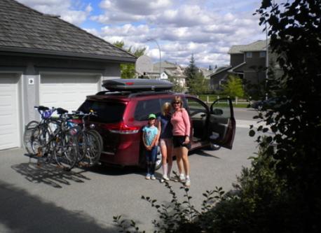 8 Passenger van with 4 bike rack