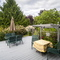 600 sq ft cedar deck accessed from the solarium-kitchen area for outdoor dining pleasure