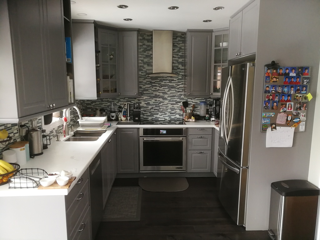 renovated kitchen with new floors