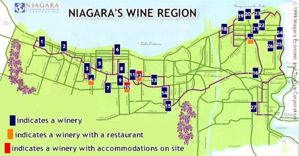 Not all 98 wineries are marked but this gives you an idea of our area.