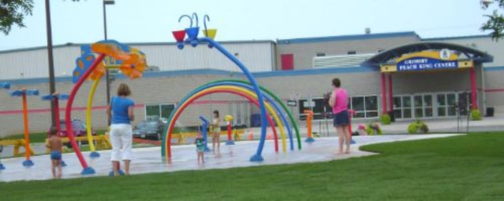 Splash pad for kids to cool off during hot summer days - located in Grimsby