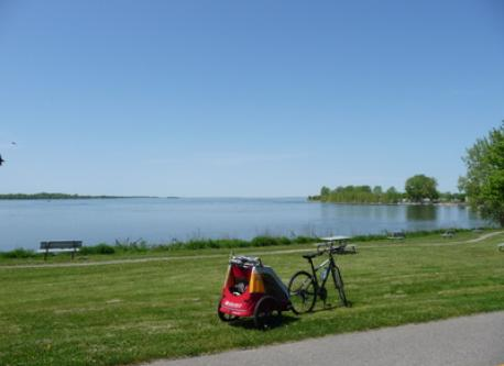 Near the house, cycling around the island of Montreal