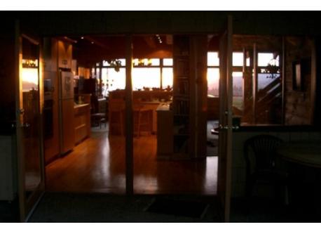 Sunset through the Kitchen