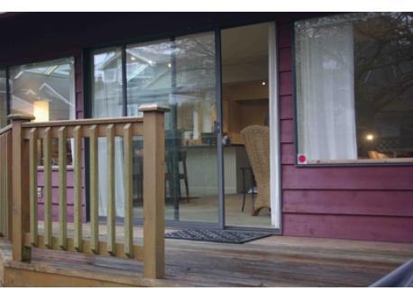 Back deck to garden (furnished in summer)