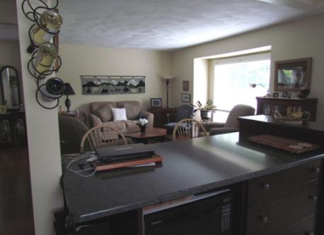 Open area living room - from kitchen