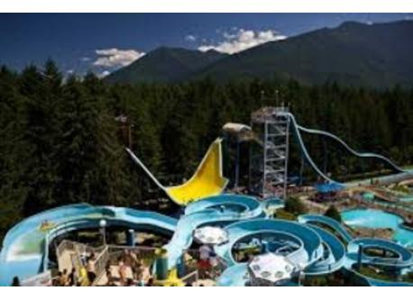 Cultus Lake Waterslides - 5 minute drive