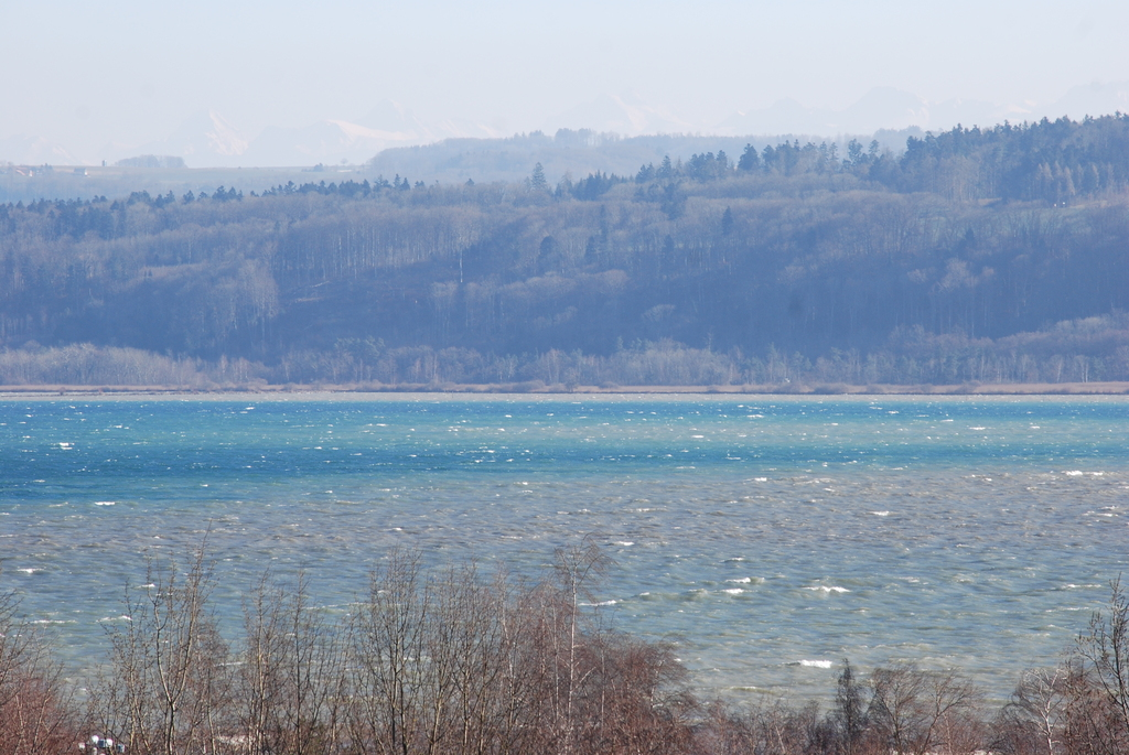 View of the lake from the balcony - Vue du lac depuis le balcon