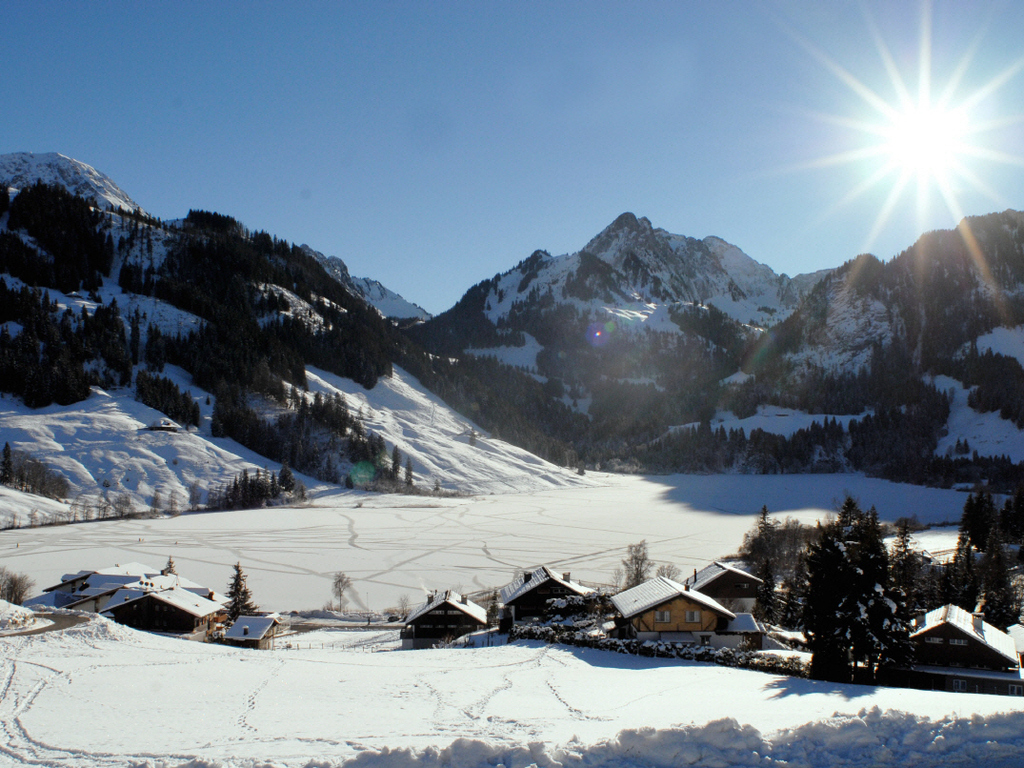 Schwarzsee im Winter / Lac Noir en hiver