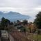 Le lac Léman et les montagnes depuis notre terrasse