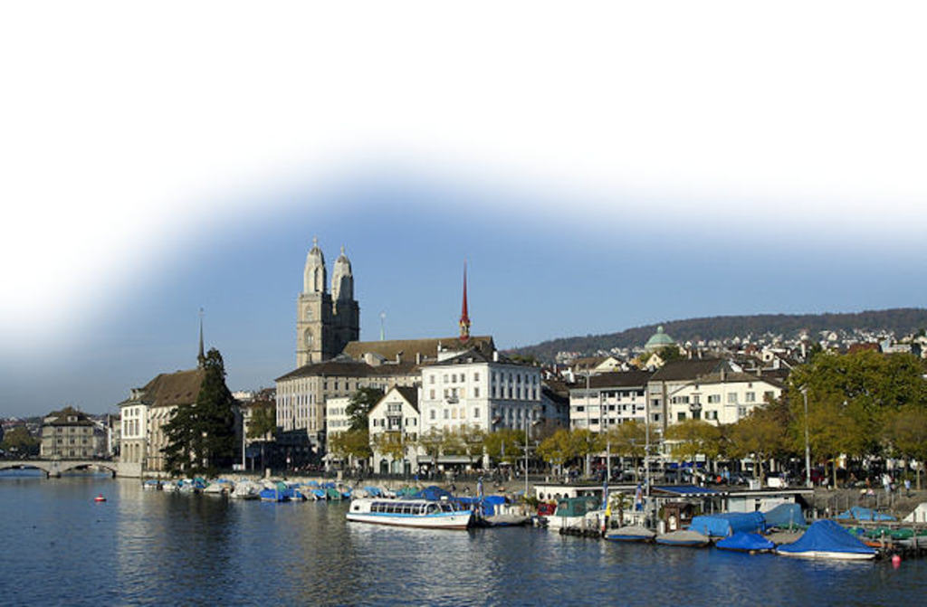 sight on Zurich with the Limmat
