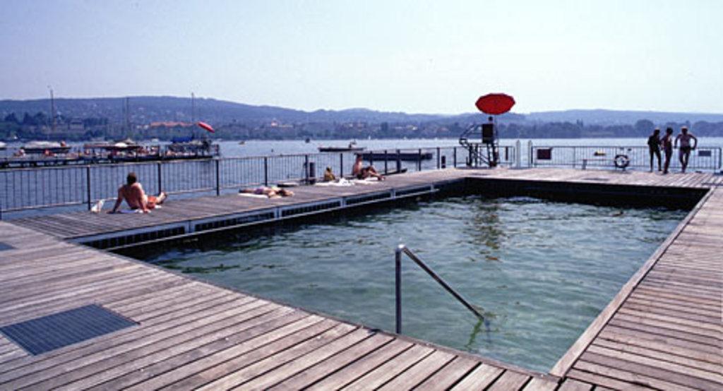 Seebad Enge on lake Zurich