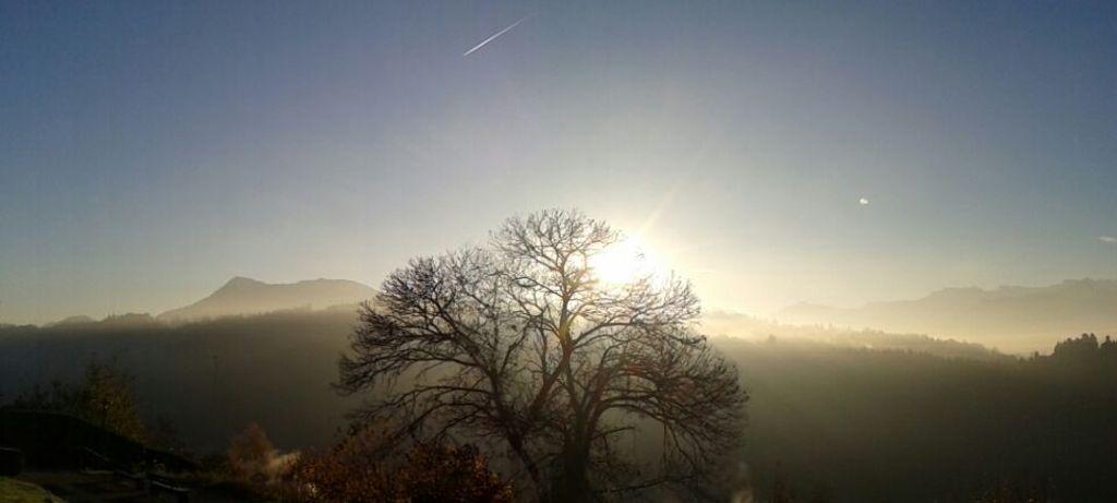 Nebel und Sonne im Herbst von der Sonnmatt in der Umgebung