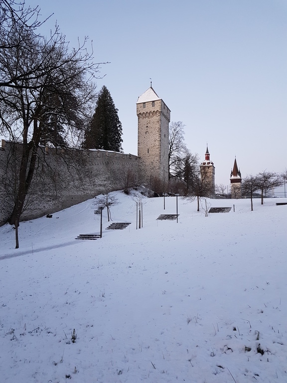 Museggtürme im Winter 2018 - city towers in the winter 2018