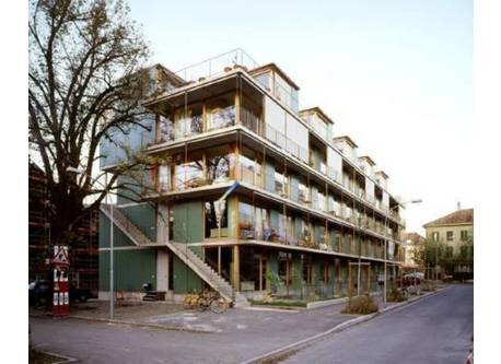 Our non-profit settlement with around 20 apartments: our home is on the first and second floor