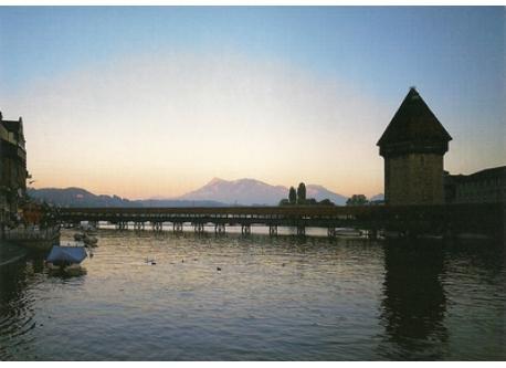 Luzern (24 km), am Vierwaldstättersee, international beliebte Stadt