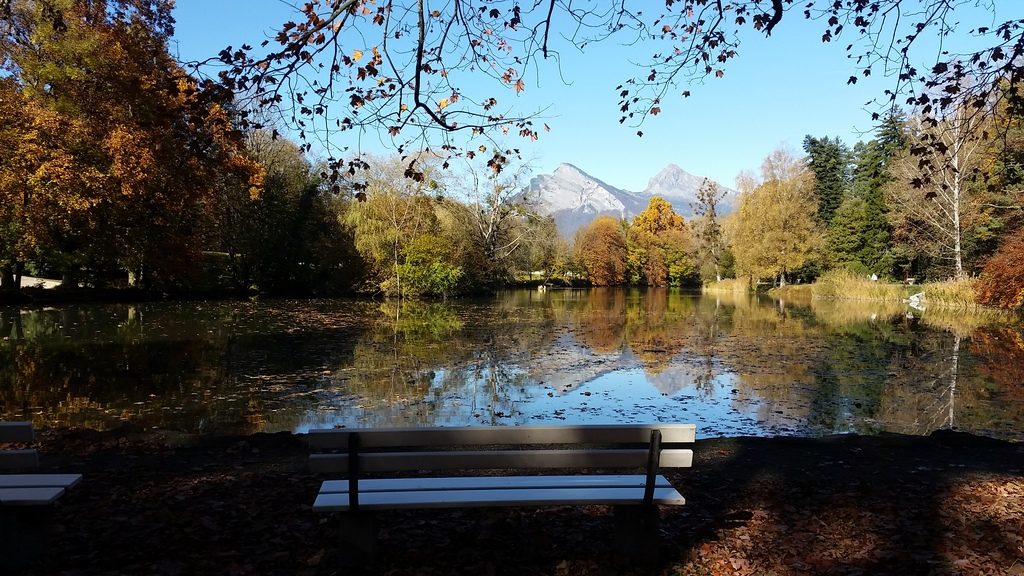 Giessensee in Bad Ragaz (in autumn/fall)