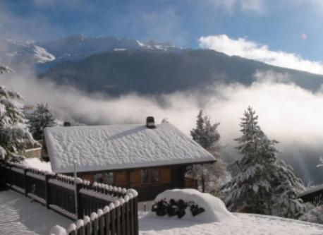 The chalet in winter