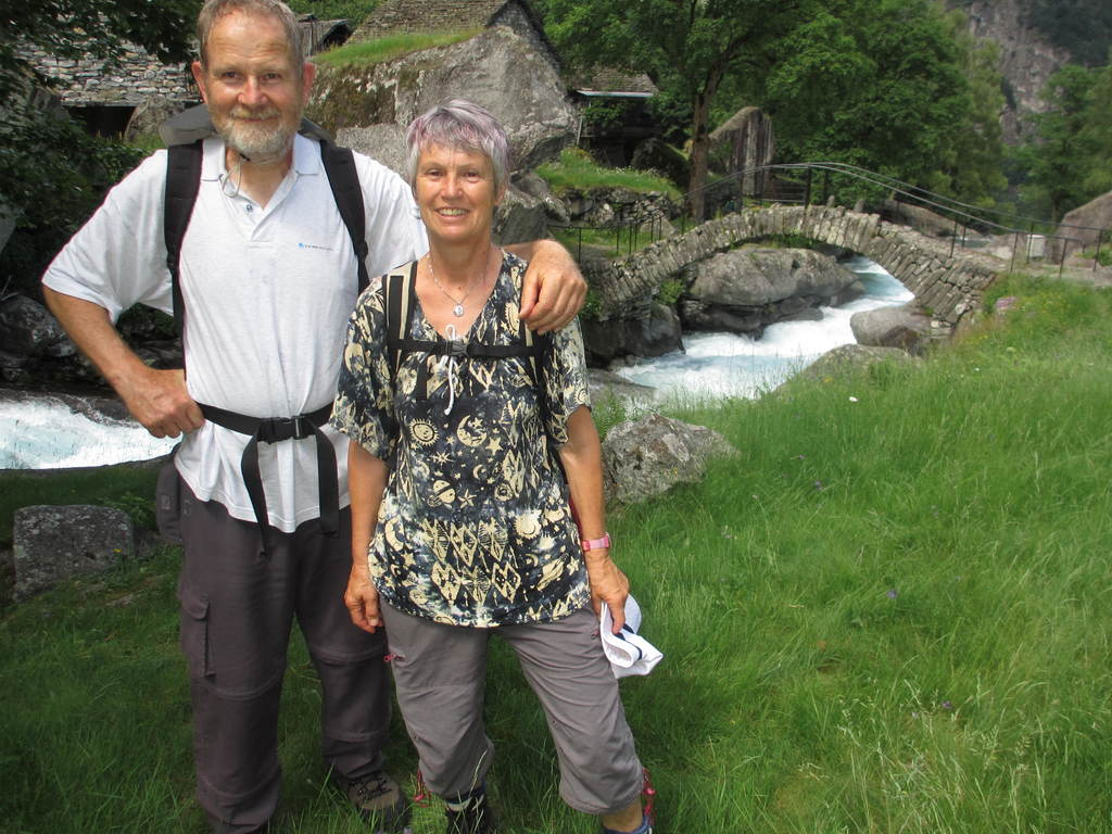 Ernst und Rosmarie 2015 im Val Bavona, Tessin