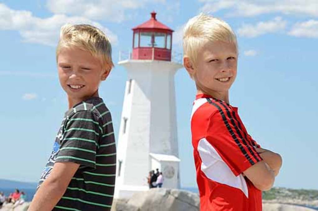 Ramon an Jan in Peggy's Cove, Canada, 2012