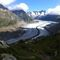 Glacier Aletsch in summer
