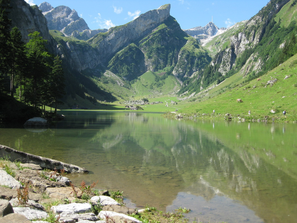 Seealpsee and Säntis