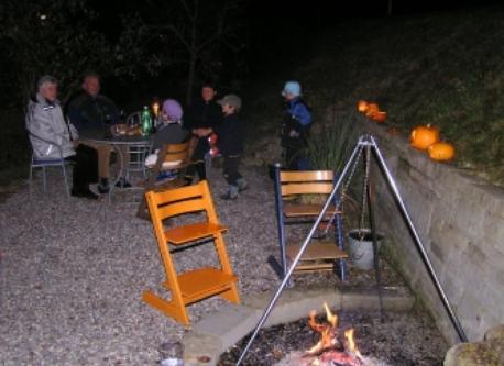 fireplace on Halloween