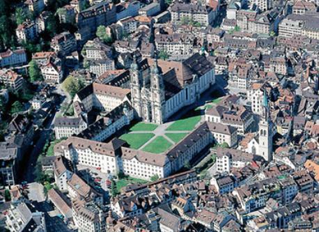 Stadt St. Gallen Klosterbezirk/city of St. Gallen with the Abbey District
