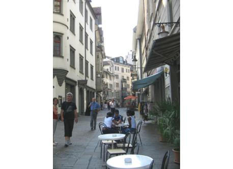 Shopping in the historical Center of St.Gallen, 12 Min. to walk.