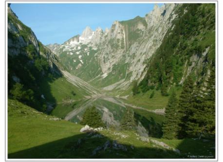 Lake in the near Alpstein