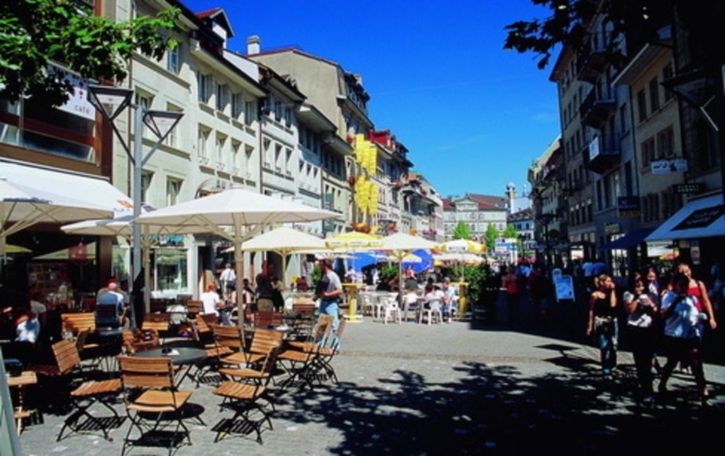 Fribourg, rue piétonne