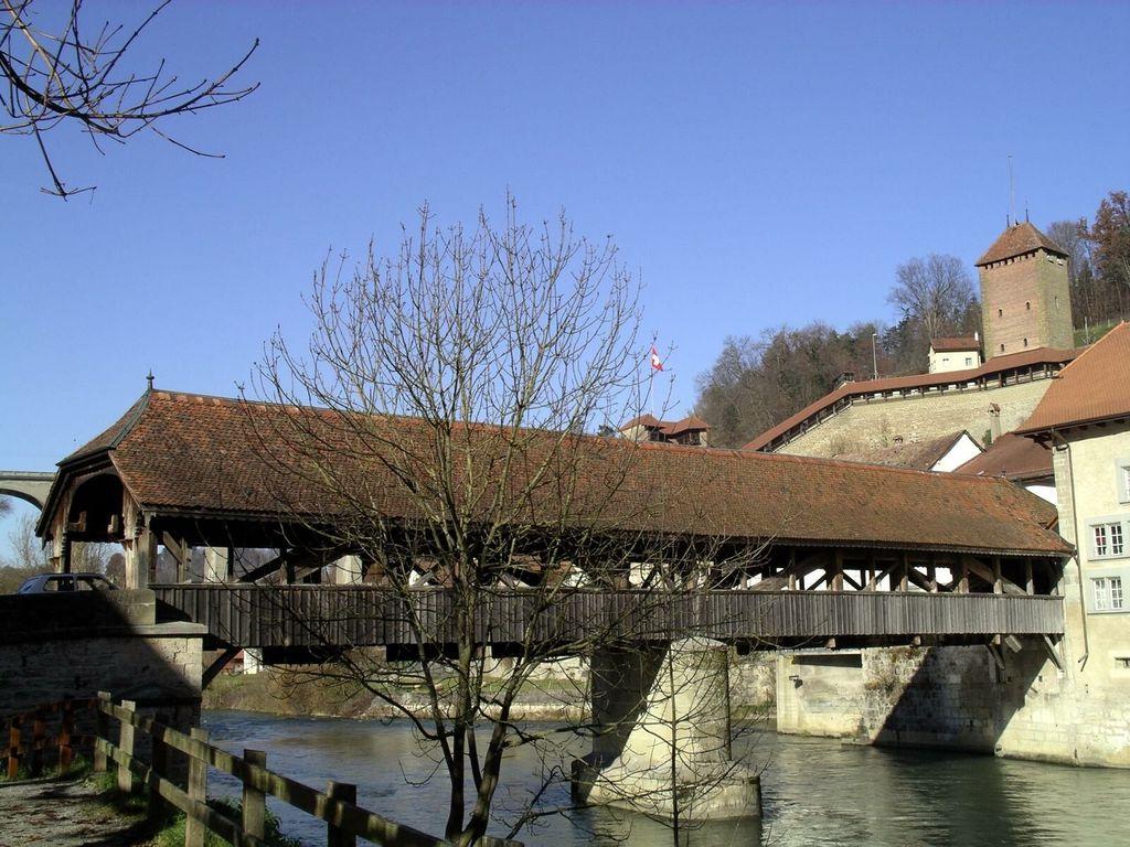 Fribourg, premier pont de la Ville, construit vers 1250