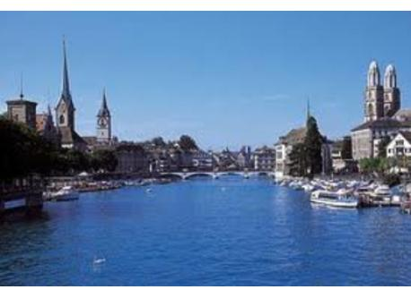 Zurich with river (Limmat)