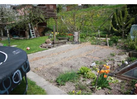 Garten im Sommer dann mit Gemüse