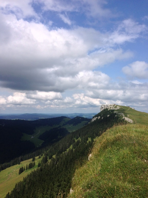 Hiking on the slops of the Jura mountains approx. 30km