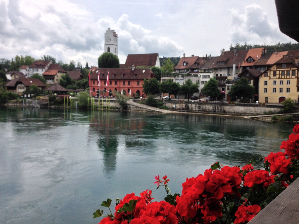 Büren on the river Aare, approx. 15km