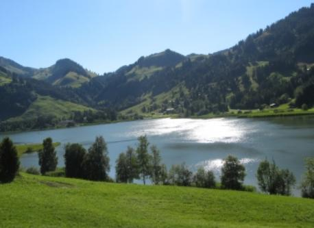 Schwarzsee (1050 m) in the fribourger alps, 35 km away